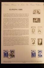 FRANCE MUSEE POSTAL FDC 18-85   ANNEE DE LA MUSIQUE   3+2,10F   PARIS    1985