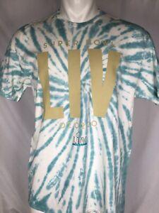 Super Bowl LIV 2020 Miami T-Shirt Kansas City Chiefs Tye Dye Men's MEDIUM