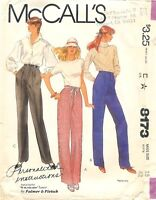Vintage 1982 McCall's # 6405 Sewing Pattern: Misses' Pants Size 18