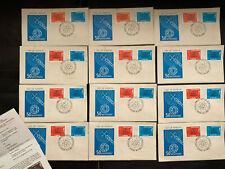 Republica Dominicana 1976 Cachet Covers, Dealer lot of 12, has info sheets