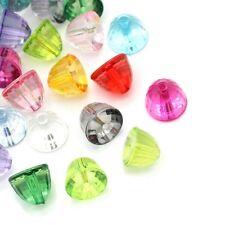 Lot 20 Perles Mixte Acrylique Hémisphère Facette 11mm x 8mm creation bijoux