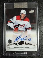 🔥🔥📈 WARREN FOEGELE 2018-19 CLEAR CUT ROOKIE AUTO ACETATE