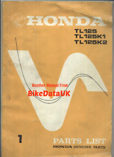 Honda Trials TL125 K0 K1 K2 (73-75) Parts List Catalogue Book Manual TL 125 CG51