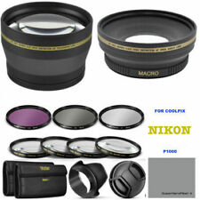 77MM WIDE ANGLE + TELEPHOTO LENS +HD FILTER KIT + MACRO FOR NIKON COOLPIX P1000