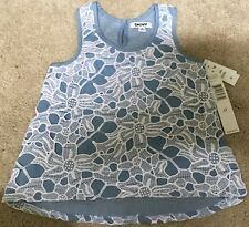 NWT $46 DKNY Toddler Girls Lace Cotton Summer Tunic Top Dress Size 3T