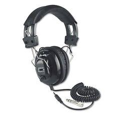 Amplivox Deluxe Stereo Headphones w/Mono Volume Control Black Sl1002