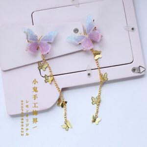 Tassel Lolita Cute Hair Accessories Fairy Handwork Gothic Butterfly Hairpin #59