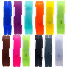 LED Digital Armband Sport Uhr Silikon Herren Damen Kinder Quarzuhr Spritzdicht