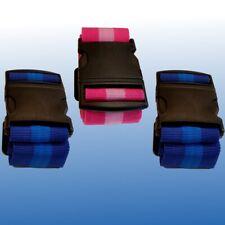 3x Koffergurt Koffergurte Kofferband Gepäckband Gepäckbänder Koffer-Gurt Set