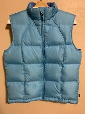 Tsunami Sport Vest Size M Baby Blue Zip Up Filled With 80% Down Feather 20%