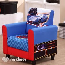 Back order Toddlers Boys DISNEY Racing CAR SOFA Blue Couch BEDROOM Childrens
