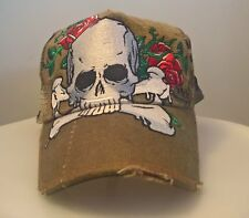 Cap WKK Easy ToWear Man Embroidered roses and the big skull military camouflage