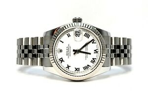 ROLEX Datejust 31 - 178274 - 2009 - White Roman - Jubilee - Box and Papers