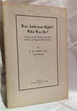 1932 WAS ANDERSON RIGHT? OCCULT FREEMASONRY SECRET SOCIETY OSSIAN LANG