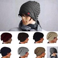 New Men Women Warm Winter Knit Ski Beanie Skull Slouchy Oversize Cap Hat Unisex