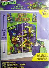 Giant Teenage Mutant Ninja Turtles Birthday Wall Decoration Kit (6' Tall)5 Decs