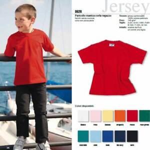 T-shirt bambino Effepi manica corta a girocollo in cotone pettinato art 862R