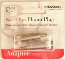 Male RCA Phono Plugs - Metal Housing - Solder Type - 2/PK RadioShack 274-339