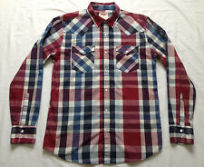 LEVIS WESTERN SNAP SHIRT PLAID [SMALL] SLIM FIT RED/BLUE/WHITE