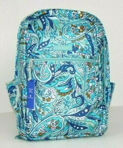 Vera Bradley Lighten Up Grand Backpack DAISY PAISLEY *Exact Item*