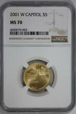 2001 W Capitol Visitor Center $5 Dollar Gold MS70 NGC US Mint Coin