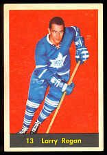 1960 61 PARKHURST HOCKEY 13 LARRY REGAN EX+ TORONTO MAPLE LEAFS FREE SHIP TO USA