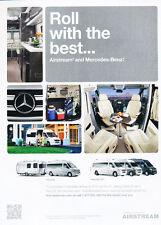 2012 Mercedes Benz Airstream Motorhome  Classic Car Advertisement Print Ad J62