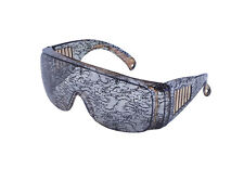 LACE PRINT LADY GAGA GLASSES POP STAR FANCY DRESS ACCESSORY