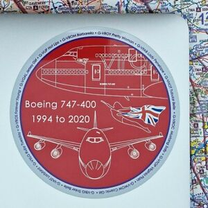Virgin Atlantic Boeing 747 Commemorative Sticker