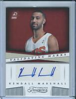 2013-14 Panini Timeless Treasures Validating Marks #1 Kendall Marshall Auto Card