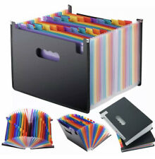 24 Pockets Expanding File Folder Accordion A4 Document Organizer