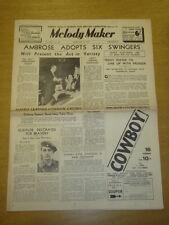 MELODY MAKER 1937 FEB 13 AMBROSE TEDDY FOSTER FRED ELIZALDE BIG BAND SWING