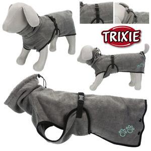 Trixie Hundebademantel Frottee Trockencape Bademantel für Hunde XS - XXL grau