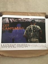 Mariano Rivera New York Yankees Autographed Exit Sandman Poster Steiner COA