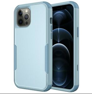 Baby Blue Shockproof Case For iPhone 12 11 Pro Max Xr Xs 6 6s 8 7 Plus SE Cover