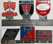 6X VINTAGE LAND ROVER badge DEFENDER FOR SALE ASSOCIATION CLASSIC series 1 2 3 a