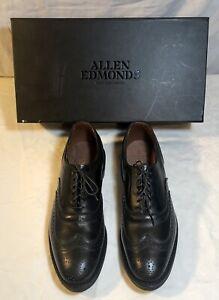 Allen Edmonds  Men's Shoes Black Size 8 New With Box  Mcallister