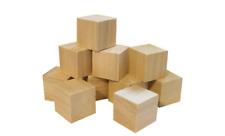 Wooden Craft Supplies Blocks Wood Cubes 40mm Hardwood Pine Minecraft