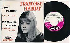 "FRANCOISE HARDY 45 TOURS EP 7"" FRANCE J'SUIS D'ACCORD"