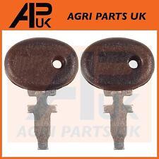 2 x Fiat 450,480,500,550,650,850,900 & Universal Tractor Ignition Switch Keys