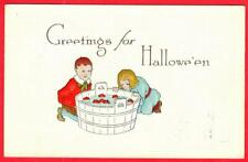 1915 HALLOWEEN ~ Bobbing for Apples ~ Pink Perfection series by Fairman