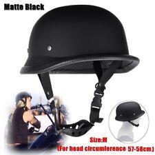 Dot Motorcycle German Style Half Face Helmet Motocross Bike Matte Black Size-m