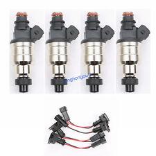 4 Pcs 850cc Fuel Injectors for HondaB16 B18 B20 D15 D16 D18 F22 H22 80LB w/clips