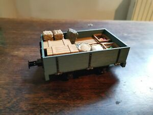 45mm g gauge, kit build open wagon with goods, 16mm or 7/8 scale