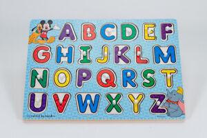 Melissa And Doug Disney Classics Wooden Alphabet Peg Puzzle