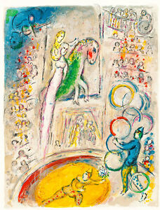 Le Cirque I by Marc Chagall A2+ High Quality Canvas Print