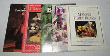 (5) Teddy Bear Making Pattern Booklets - All Patterns Uncut