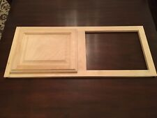 "Unfinished Natural Birch Top Cabinet Face Frame (36"" X 15"") With 16"" x 13"" Doors"