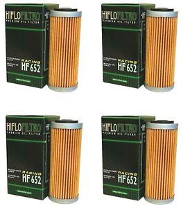HI-FLO HF652 OIL FILTERS PACK OF 4 - KTM SXF250 SXF350 SXF450 2019 - 2022