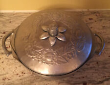 Everlast Forged Aluminum Casserole Bowl with Glasbake insert & lid floral